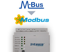 Intesis M-Bus to Modbus gateway