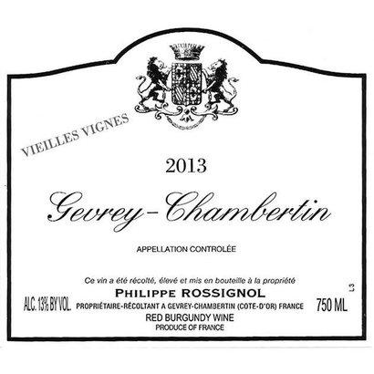 Gevrey-Chambertin 1er Cru 'Estournelles St-Jacques' Philippe Rossignol 2013