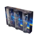Set bicchieri da birra UEFA Champions League con logo