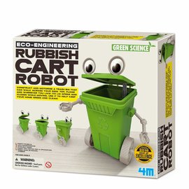 4M 4M Green science eco- engineering rubbish cart robot afvalbak robot