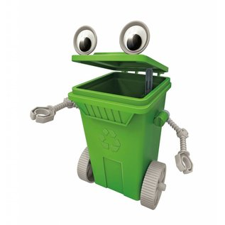 4M 4M Green Science eco-engineering rubbish cart robot vuilnisbak robot