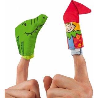 Goki hand / vingerpopje set nar  verschillende thema's verkrijgbaar voor het