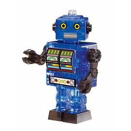 Crystal puzzle 3D Crystal puzzel robot blauw