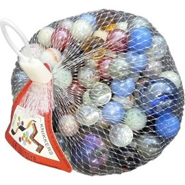 Toi Toys Marble 500 gram knikkers in net