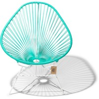 Acapulco chair turquoise, white frame