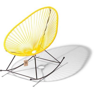 Acapulco rocking chair yellow, black frame