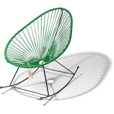 Handmade Acapulco rocking chair dark green