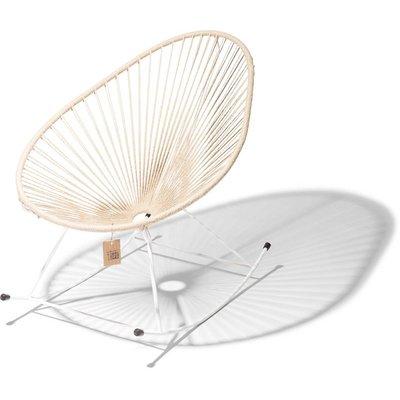 Acapulco rocking chair, white frame, hemp