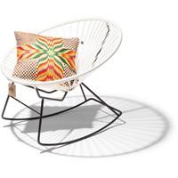 Condesa schommelstoel wit, handgemaakt in Mexico