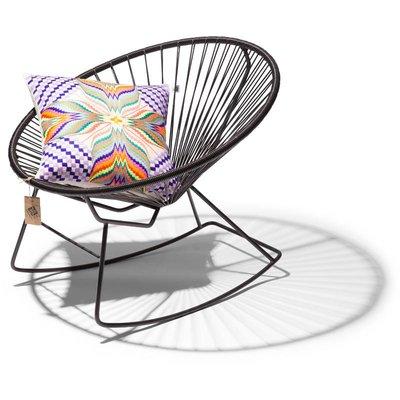 Condesa schommelstoel zwart, handgemaakt in Mexico