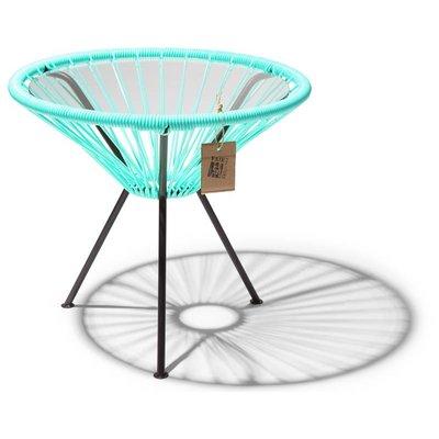 Tisch Japón helltürkis mit Glastischplatte