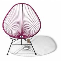 Handmade Acapulco chair violet wine, black frame