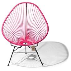 Acapulco Stuhl taupe, mit weißem Rahmen