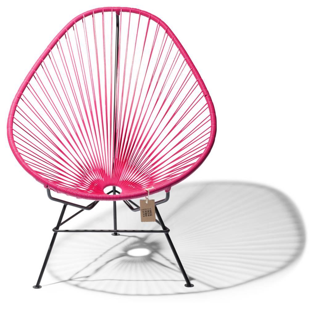 Pleasant Handmade Acapulco Chair Bougainvillea Black Frame Camellatalisay Diy Chair Ideas Camellatalisaycom