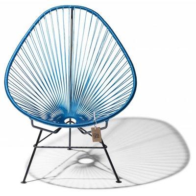 Handgemaakte Acapulco stoel metaal/kobaltblauw, zwart frame