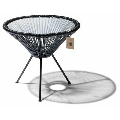 Table Japón noir avec plateau en verre