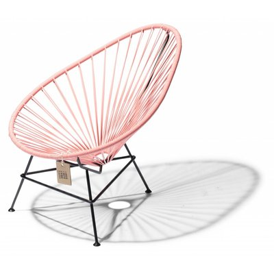 Acapulco chair baby pink salmon with black frame