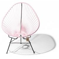 Acapulco chair pink pastel, black frame