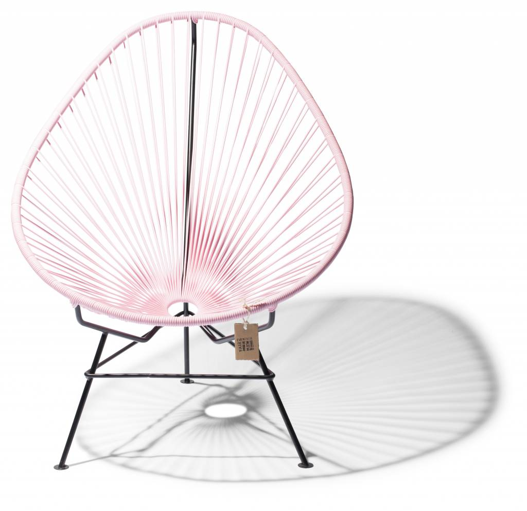 Groovy Acapulco Stoel Pastel Roze Met Zwart Frame Caraccident5 Cool Chair Designs And Ideas Caraccident5Info