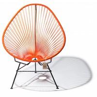 Handgemaakte Acapulco stoel oranje, zwart frame