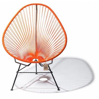 Handmade Acapulco chair orange, black frame