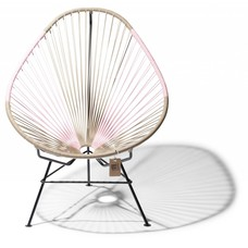 Acapulco chair beige & pink