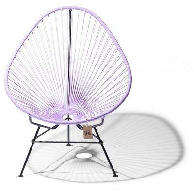 Handmade Acapulco chair lilac, black frame