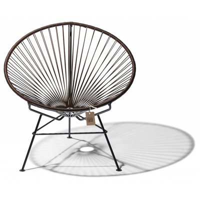 Chocolate colored Condesa chair, handmade, black frame