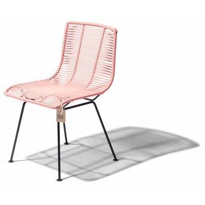 Rosarito dining chair salmon pink