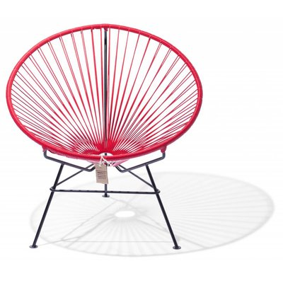 Condesa chair red, handmade, black frame