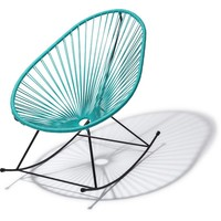 Handmade Acapulco rocking chair turquoise, black frame