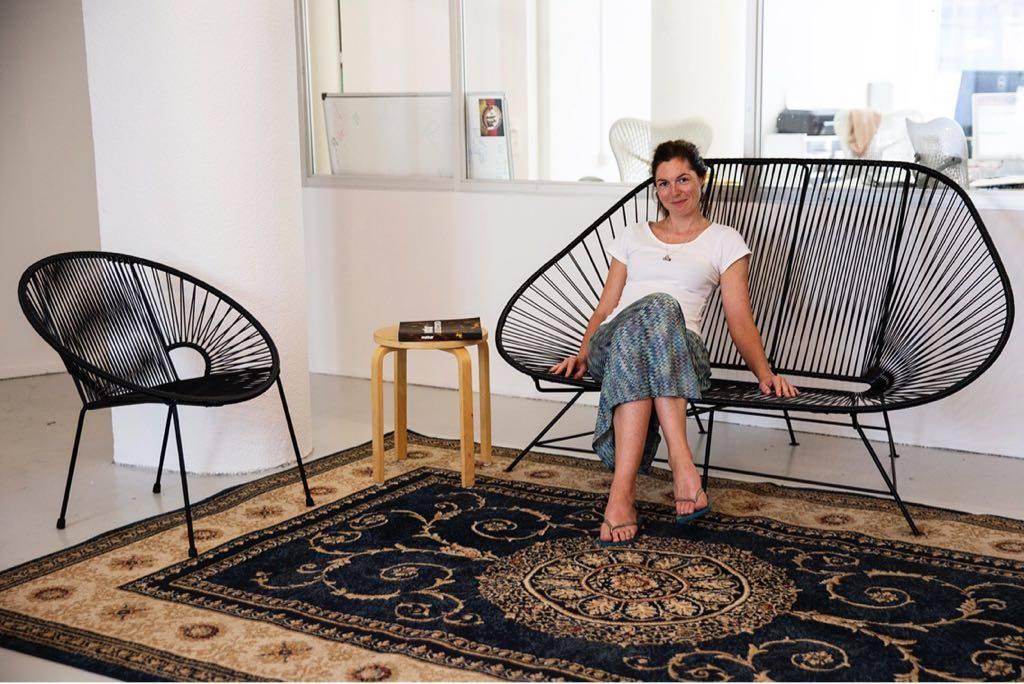 Acapulco Zweisitzer Sofa schwarz geeignet für 2 Personen Acapulco Stühle