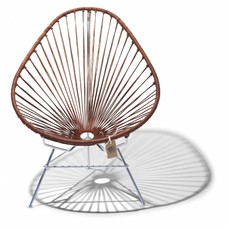 Exclusive leather edition Acapulco chair, chrome frame