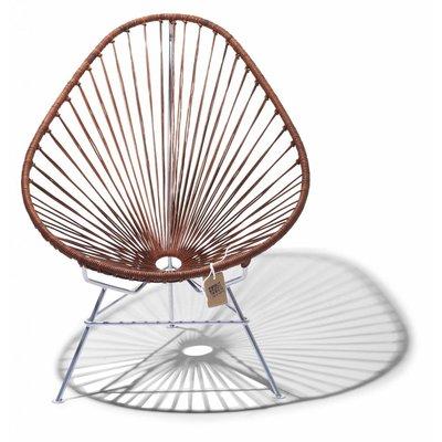 Édition exclusive de cuir de la fauteuil  Acapulco avec cadre en chrome