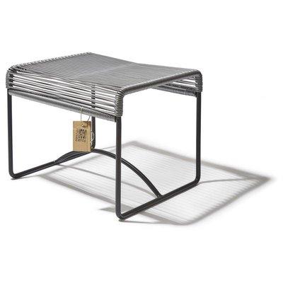 Xalapa sgabello/poggiapiedi grigio argento