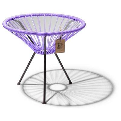 Tisch Japón lila mit Glastischplatte