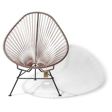 Acapulco chair taupe metallic