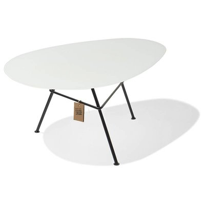 Table en verre Zahora - blanc