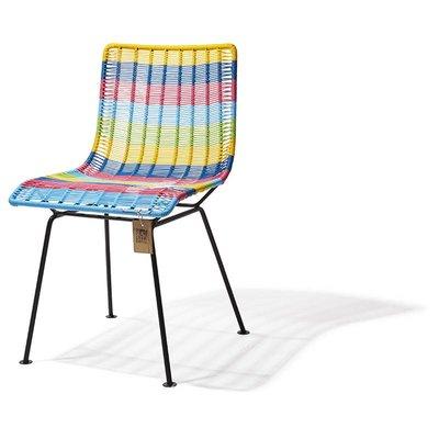 Chaise de salle à manger multicolore