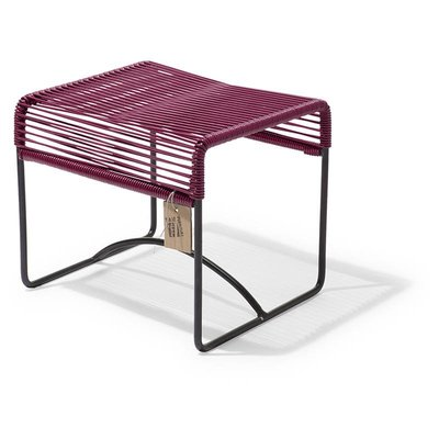 Xalapa bench or footrest violet wine