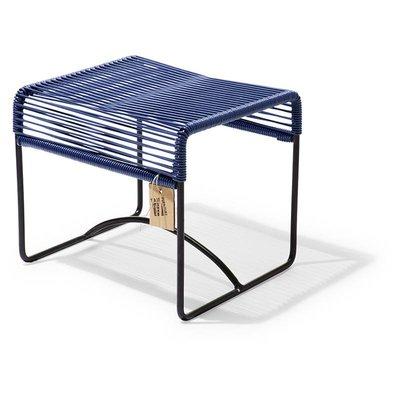 Xalapa taburete/reposapiés azul metálico