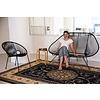Acapulco Zweisitzer Sofa petrolblau, geeignet für 2 bis 3 Personen