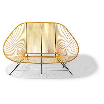 Acapulco Zweisitzer Sofa gelb, geeignet für 2 bis 3 Personen
