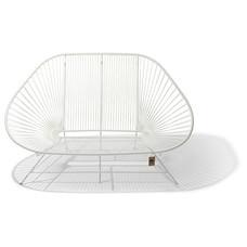 Acapulco Zweisitzer Sofa weiß, weißes Gestell
