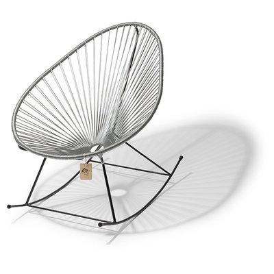 Acapulco rocking chair silver-grey, black frame