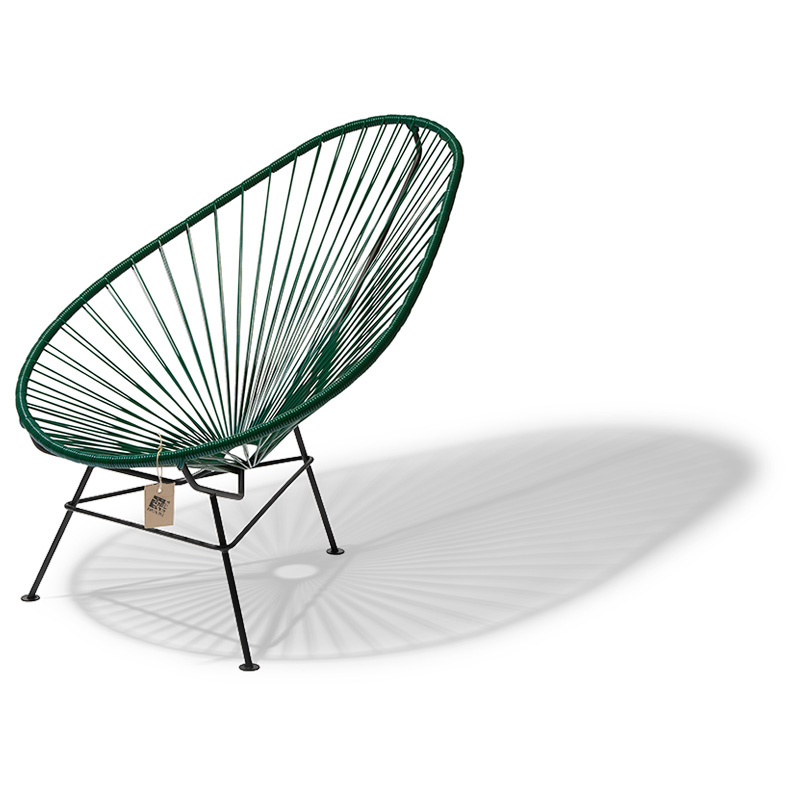 fauteuil acapulco vert, fabriqué à la main au mexique - *le fauteuil