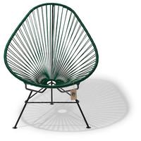 Acapulco stoel donker groen met zwart frame