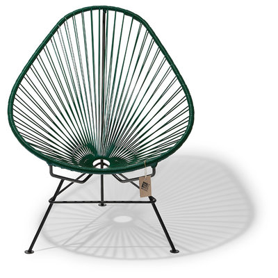 Acapulco chair green with black frame