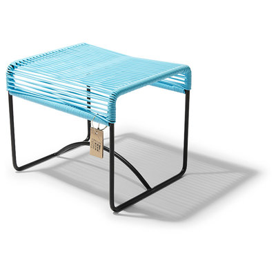 Xalapa bench or footrest pastel blue