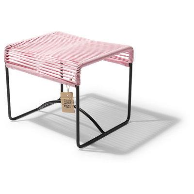 Xalapa taburete / reposapiés rosa pastel